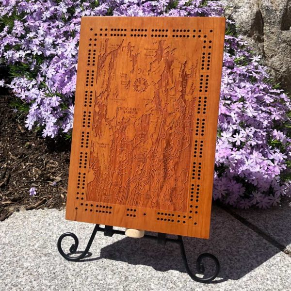 Boothbay Harbor & Southport Cribbage Board.