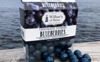 A box of Chocolate Covered Blueberries.