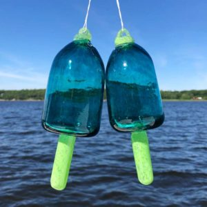 Ocean Blown Glass Lobster Buoy