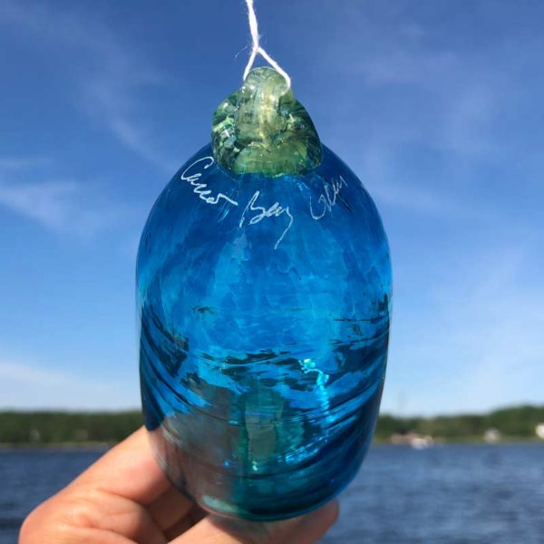 Cerulean Blown Glass Lobster Buoy