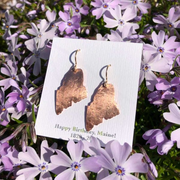 Maine Earrings made from Copper by Miller Designs