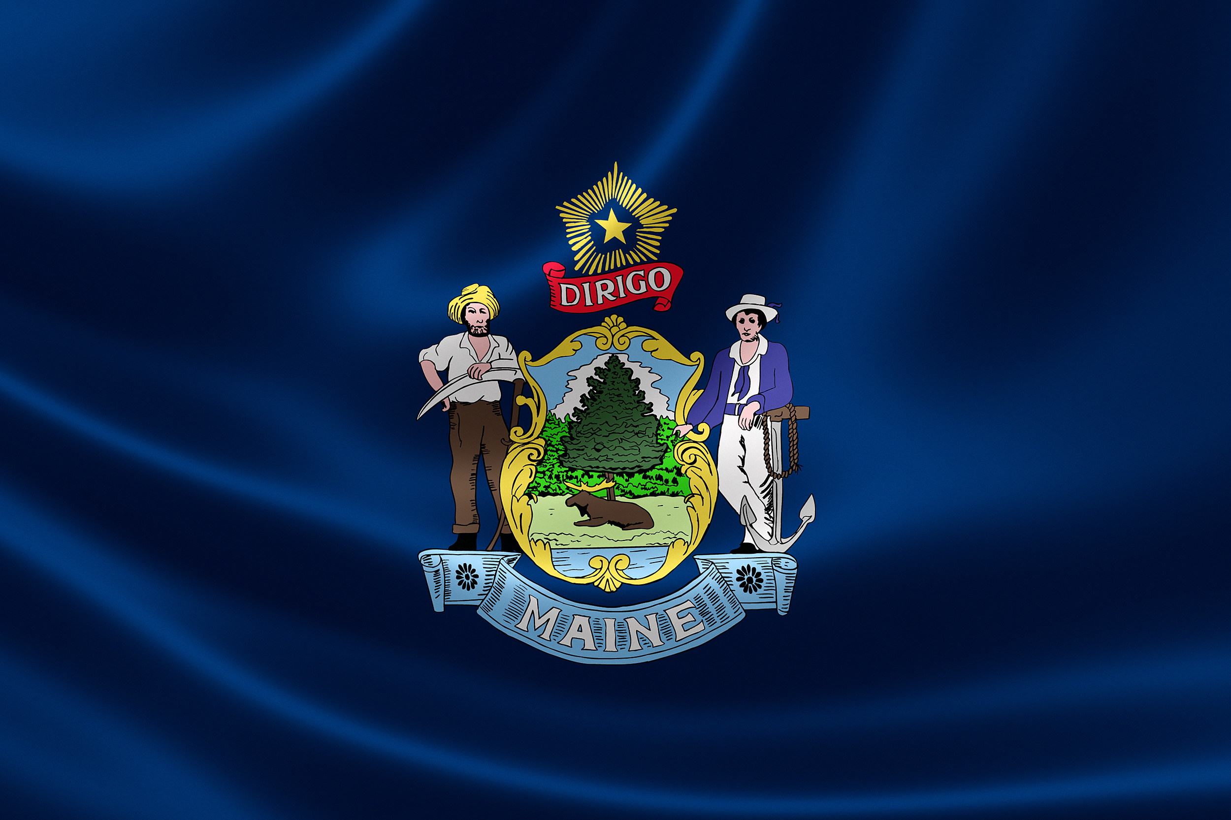 Current Maine State Flag