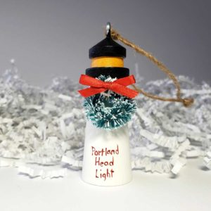 Wooden Portland Head Lighthouse Ornament