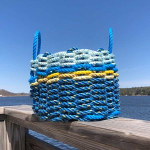 Electric Blue, Yellow & Blue Lobster Rope Basket