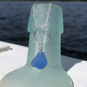 Circle & Bar Sea Glass Necklace