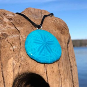 Aqua Sand Dollar Necklace
