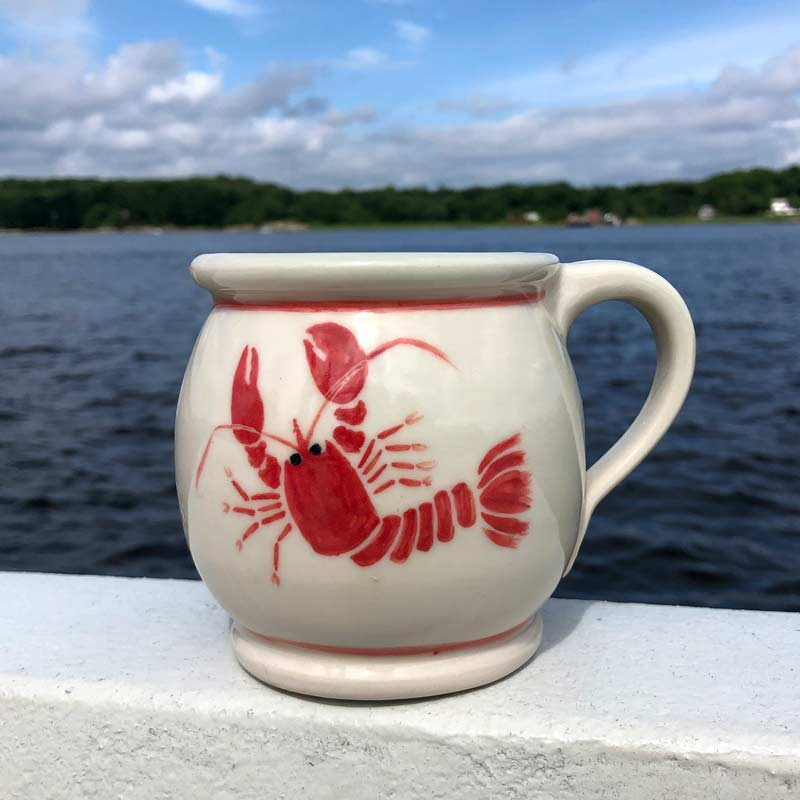 Lobster Mug with Red Trim