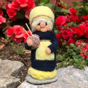 Lemon Loretta the Knitting Gnome