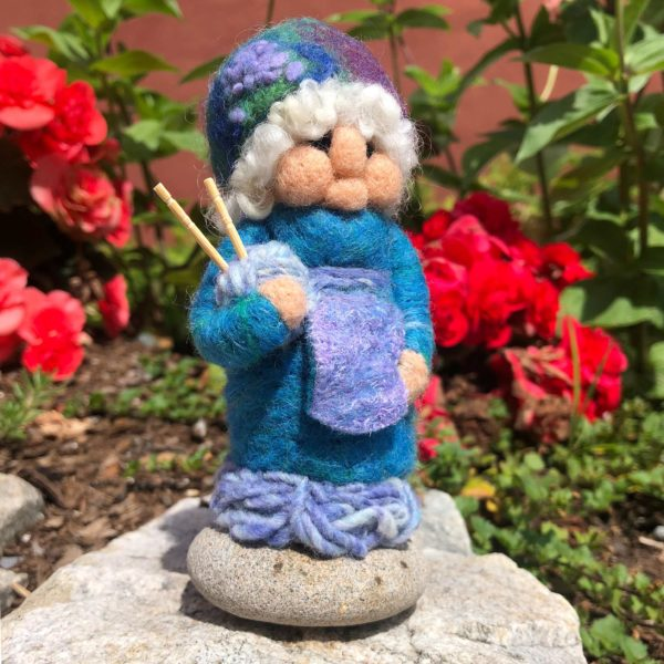 Periwinkle Penelope the Knitting Gnome