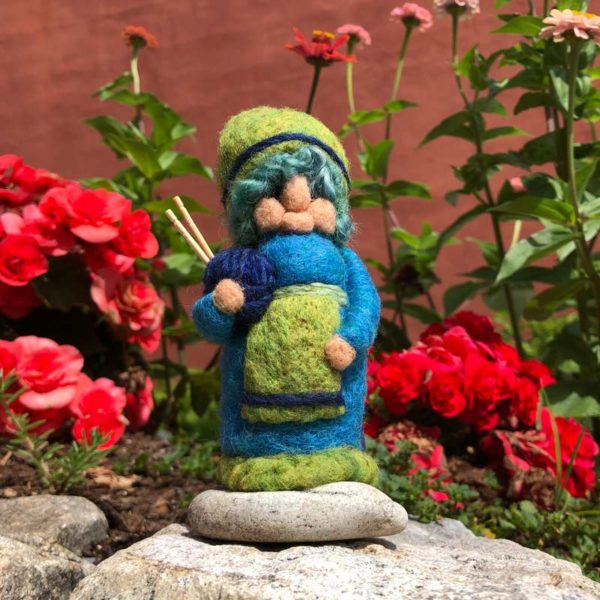 Blue Babs the Knitting Gnome