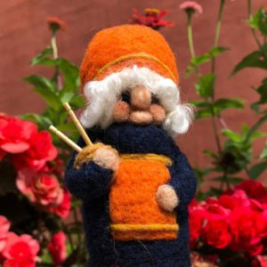 Ginger Greta the Knitting Gnome