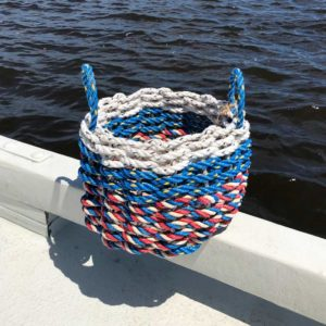 Red, White & Blue Lobster Rope Basket