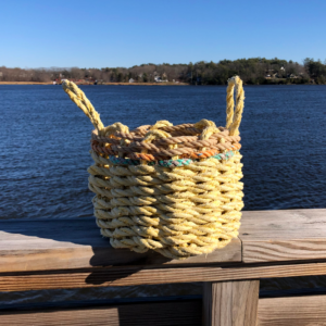 Yellow Lobster Rope Basket