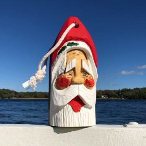 Large Hand Carved Santa Buoy #65