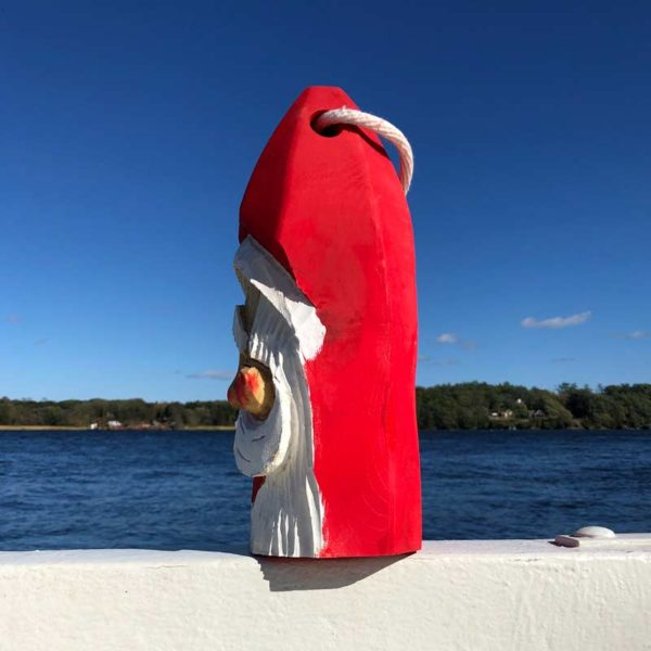Large Hand Carved Santa Buoy #71