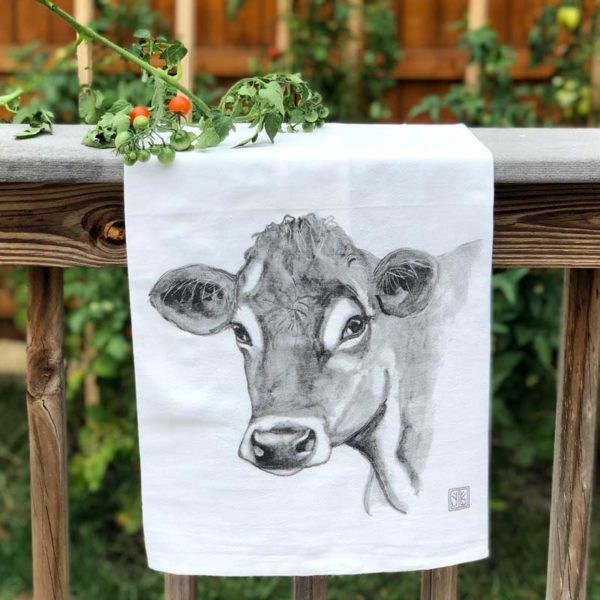 Farm Animal Tea Towel - Cow