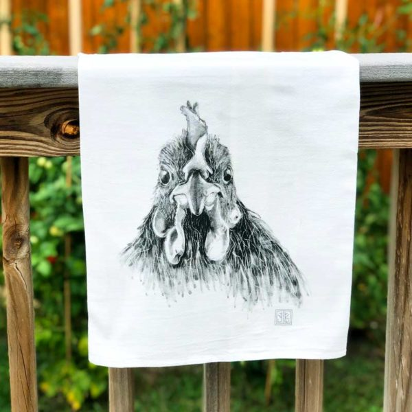 Farm Animal Tea Towel - Chicken