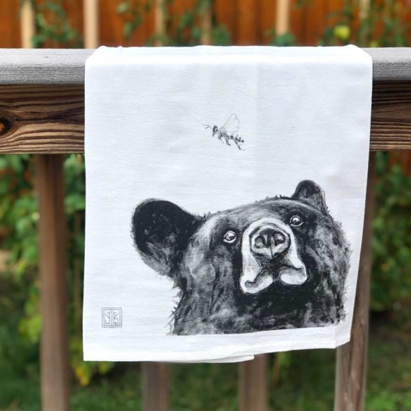 Forest Animal Tea Towel - Bee & Bear
