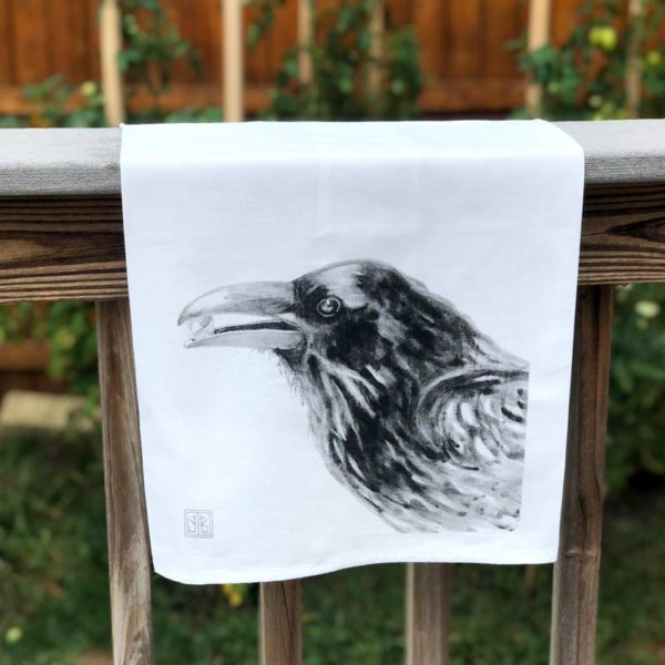 Forest Animal Tea Towel - Crow