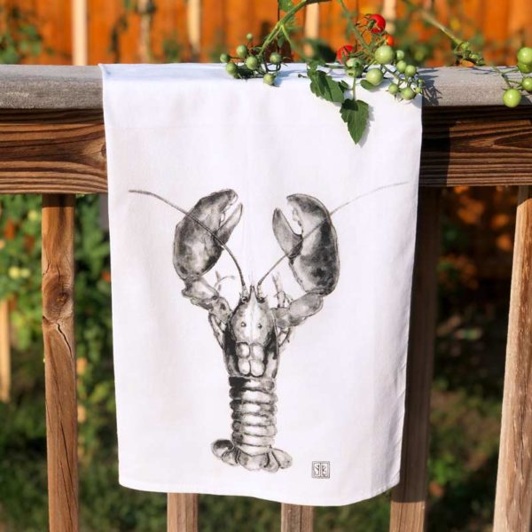 Sea Creature Tea Towel - Lobster