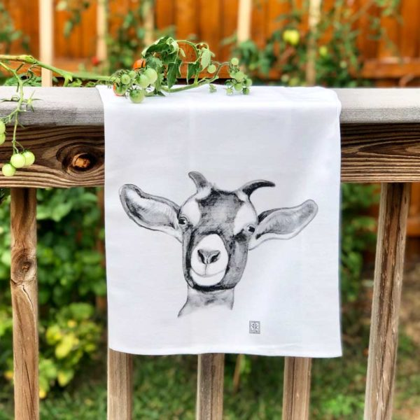 Farm Animal Tea Towel - Goat