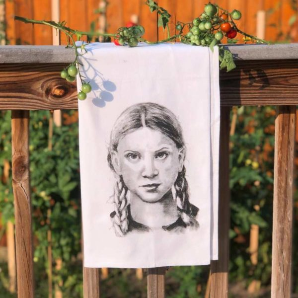 Strong Women Tea Towel - Greta Thunberg