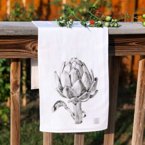 Vegetable Tea Towel - Artichoke