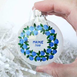 Blueberry Wreath 2020 Ornament