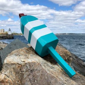 Large Teal & White Lobster Buoy