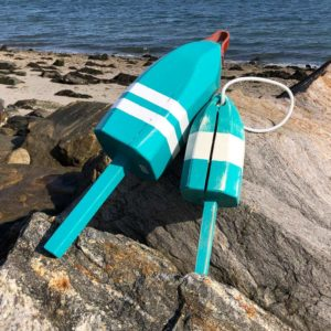 Teal & White Lobster Buoys
