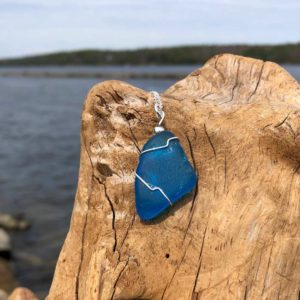 Aqua Sea Glass Necklace