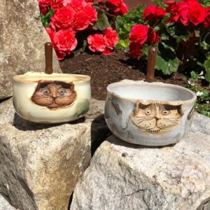Cat Dip Dish by Westport Island Pottery