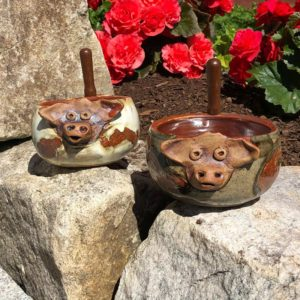 Cow Dip Dish by Westport Island Pottery