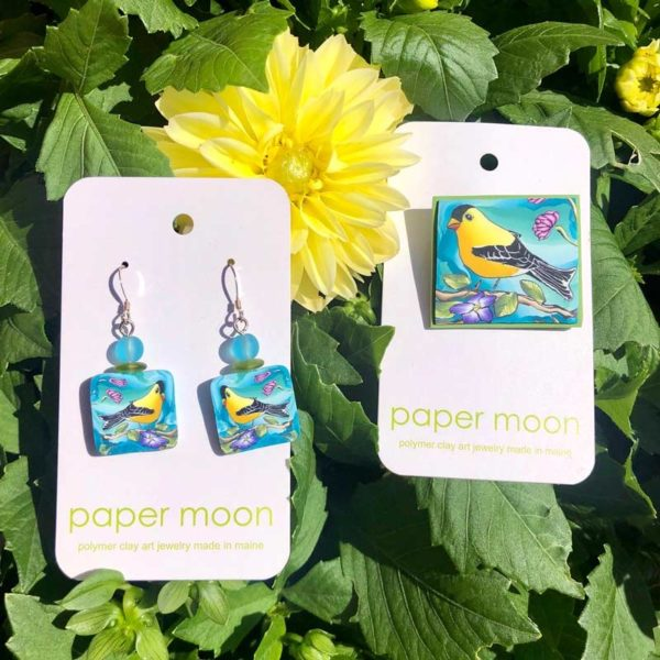 Paper Moon Jewelry made from Polymer Clay - GoldFinch