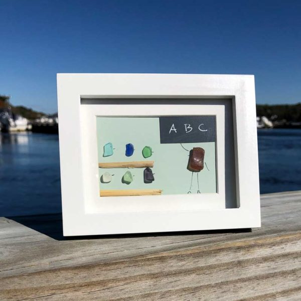 Sea Glass Teacher & Students Frames with Green Background