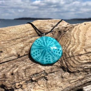 Turkish Blue Sand Dollar Necklace