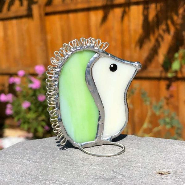 Lime Stained Glass Hedgehog