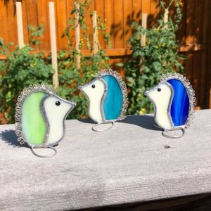 Stained Glass Hedgehogs