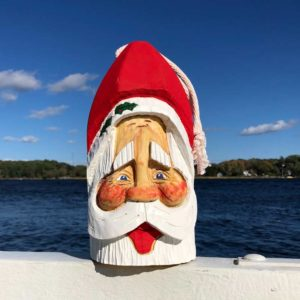Large Hand Carved Santa Buoy #74