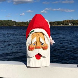 Large Hand Carved Santa Buoy #77