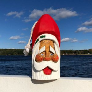 Large Hand Carved Santa Buoy #80