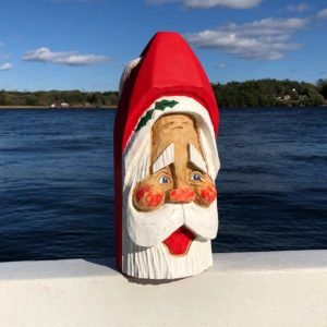 Large Hand Carved Santa Buoy #82