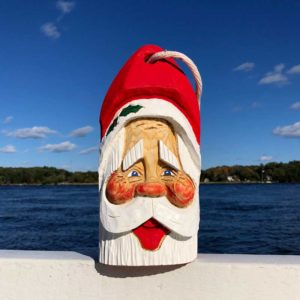 Large Hand Carved Santa Buoy #83