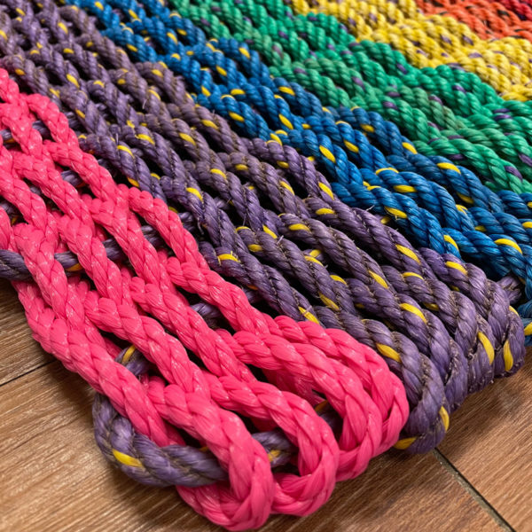 Rainbow Lobster Rope Doormat