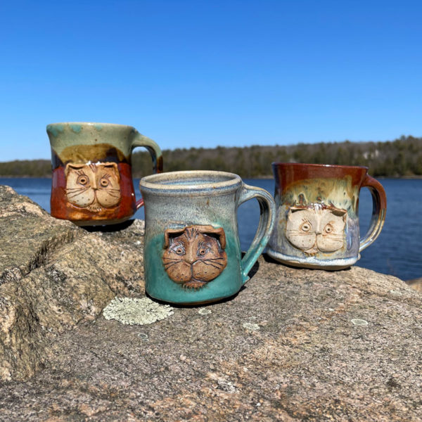 Cat Mug by Westport Island Pottery