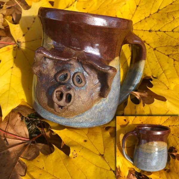 Pig Mug 6 by Westport Island Pottery