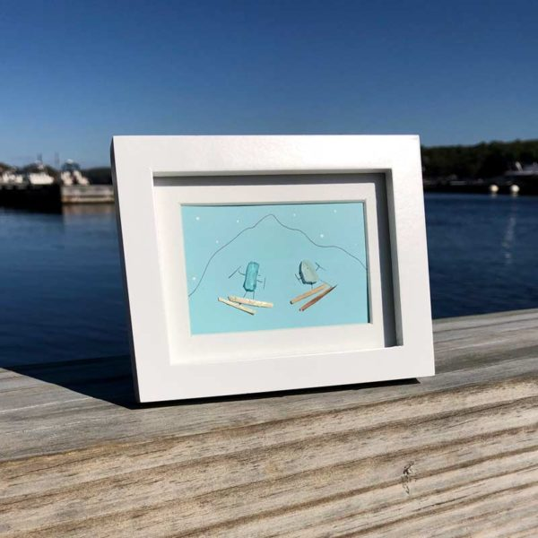 Sea Glass Skier Frames