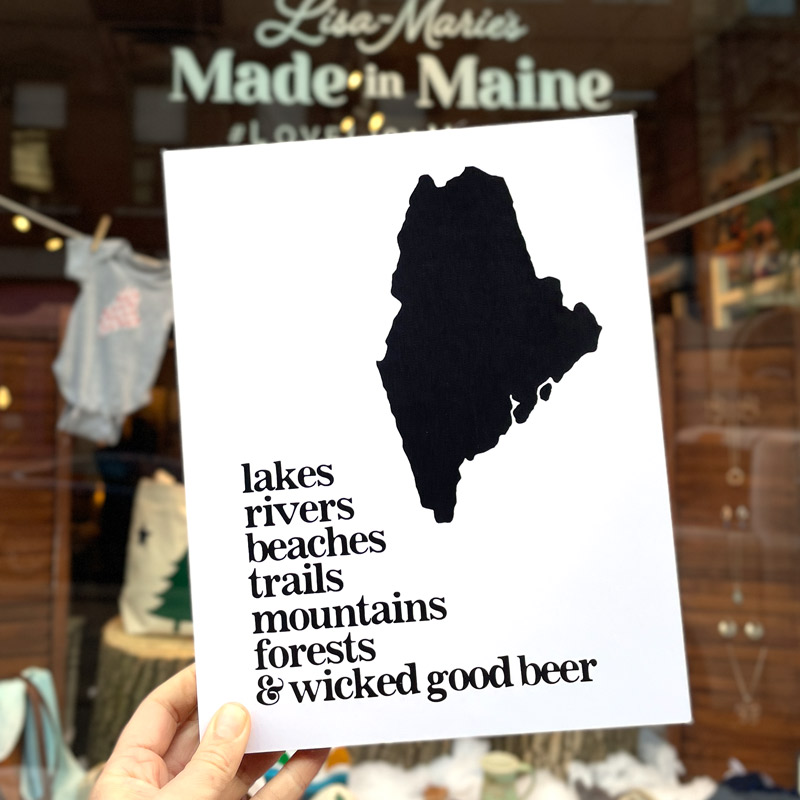 Maine's Got It All Mounted Art Print