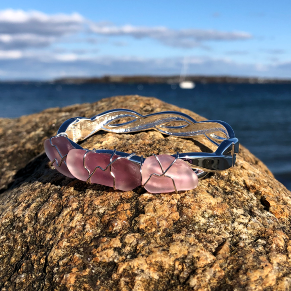 Pink Sea Glass Bracelet