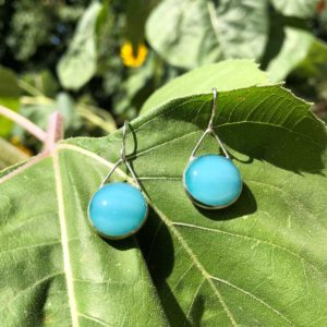 Robin's Egg Glass Earrings
